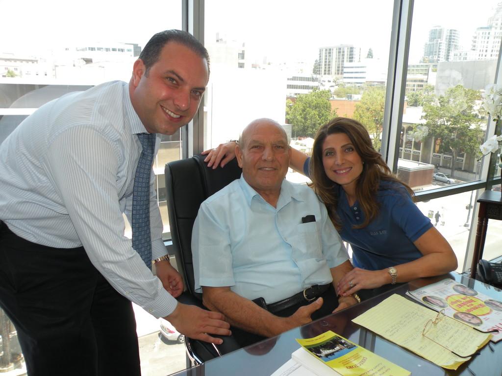 Sabri Shamoun with his daughter, Renae Arabo, and son, Ronsom Shamoun.